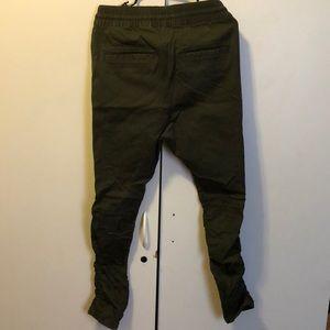 d121a20c2 H M Pants - H M HM FOG OLIVE DROP CROTCH JOGGER ZIPPER PANT